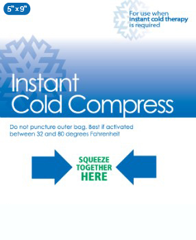 Instant Cold Compress 5 x9 Case/24