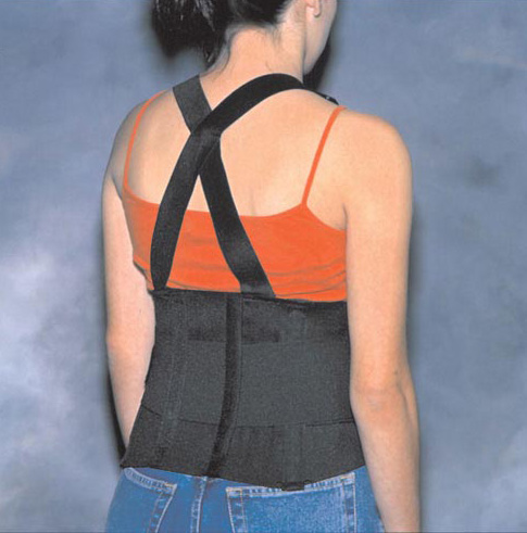 Back Support Industrial W/ Suspenders Med 33-38