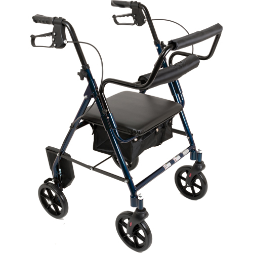 Combination Blue Rollator & Transport Wheelchair