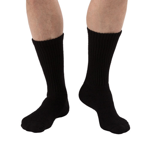 Sensifoot Diabetic Sock Crew Black Large