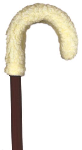 Fleece Cane Grip Curved Handle