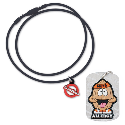 AllerMates Tree Nut Allergy Dog Tag w/Necklace Cord