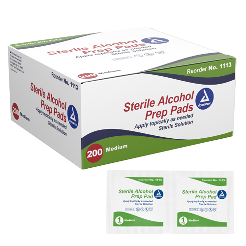 Alcohol Prep Pads- Bx/200 Medium Sterile