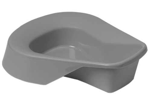 Bed Pan Graphite w/o Cover Disposable