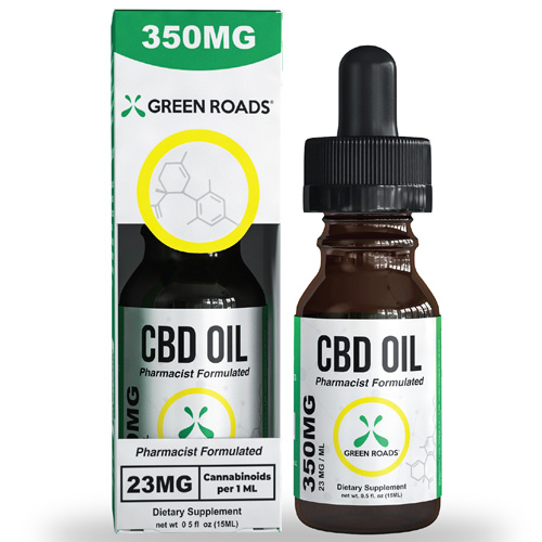 CBD Oil 350 mg Size 15 ml by Green Roads
