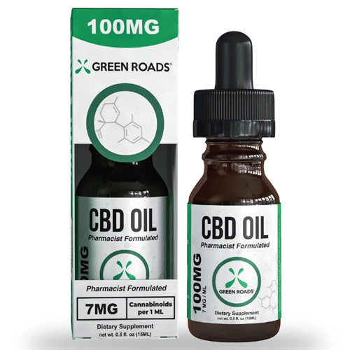 CBD Oil 100mg Size 15 ml by Green Roads