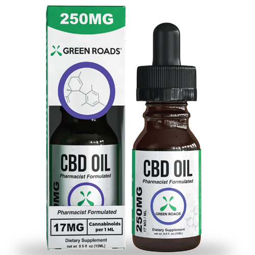 CBD Oil 250mg Size 15 ml by Green Roads