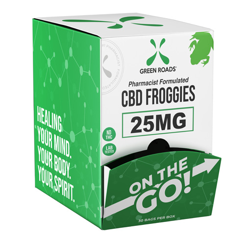 CBD Froggies 25mg On-The-Go Gravity Dispenser (Bx/30)
