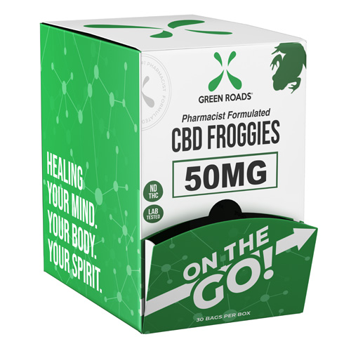 CBD Froggies 50mg On-The-Go Gravity Dispenser (Bx/30)