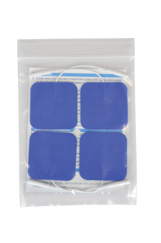 Reusable Electrodes Pack/4 2 x2 Square Blue Jay Brand