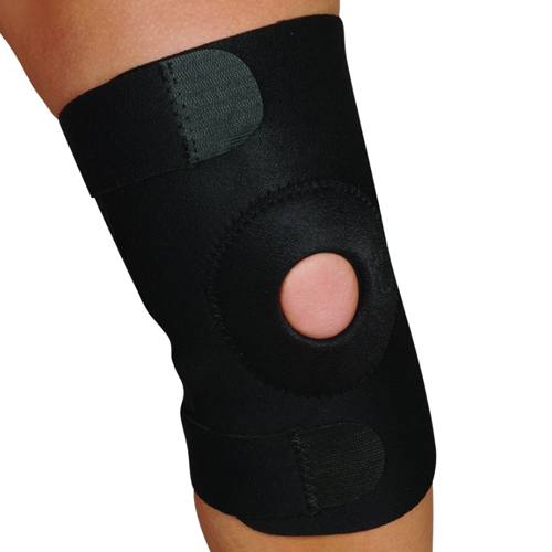 Blue Jay Adj Knee Support Open Patella Design Black Sm/Md