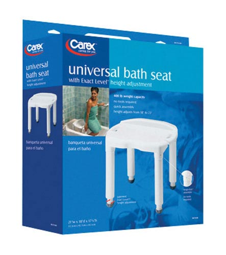Bath Bench Composite W/O Back Knock-Down - Retail - Carex
