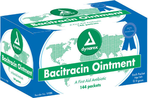 Bacitracin Ointment Bx/144 0.9 gm Foil Pack